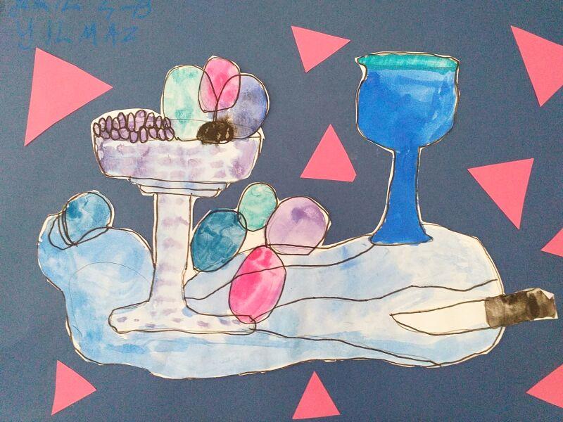 4 Sinif Ogrencilerimizin Paul Cezanne Reproduksiyon Sergisi